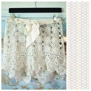 Cynthia Rowley cotton lace shorts
